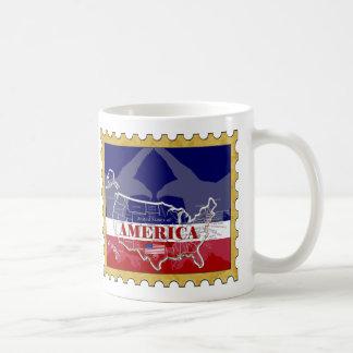 Amerikas Staats-Farbkahler Adler-Briefmarken-Tasse Kaffeetasse