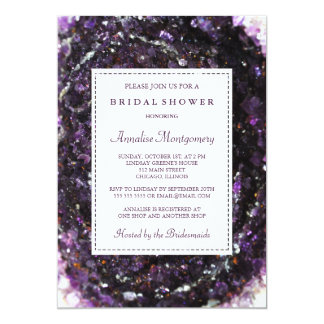 Amethyst Geode lila Brautparty-Einladung 12,7 X 17,8 Cm Einladungskarte