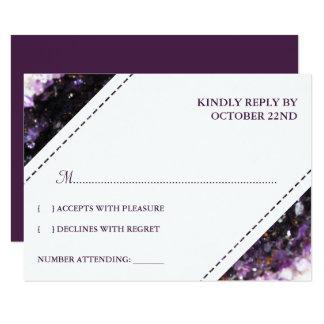 Amethyst Geode   violettes Hochzeit UAWG 8,9 X 12,7 Cm Einladungskarte