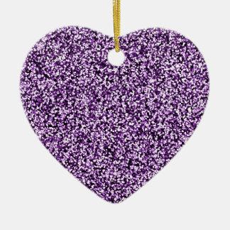 Amethyst lila Imitat-Glitter Keramik Ornament