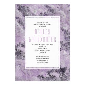 Amethyst lila Marmorhochzeits-Verlobungs-Party 12,7 X 17,8 Cm Einladungskarte