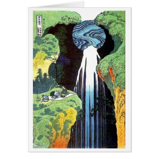 Amida Wasserfall auf der Kisokaido Straße, Hokusai Karte