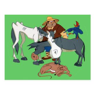 AMIGOS DE DON QUIJOTE - 400 Años - Cervantes Postkarte