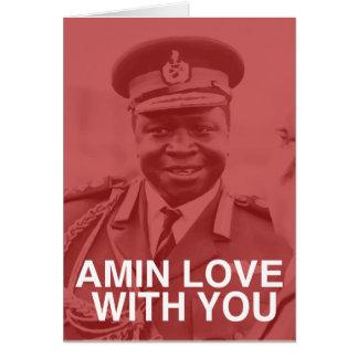 Amin-Liebe mit Ihnen Grußkarte