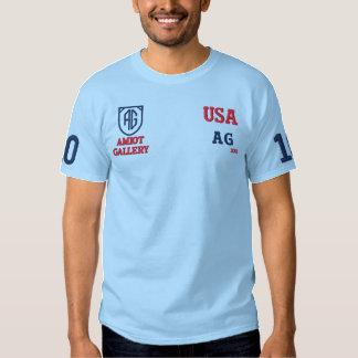Amiot Galerie-Trendy hellblauer T - Shirt