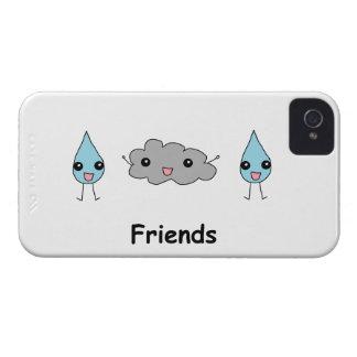 Amis mignons de nuage et de goutte de pluie coque iPhone 4 Case-Mate