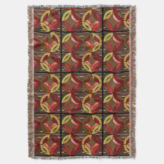 Amisches Hochzeits-Ring-Steppdecken-Muster in den Decke