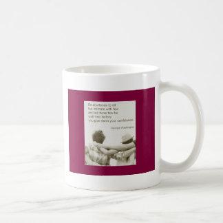 Amizade Freundschaft George Washington Kaffeetasse