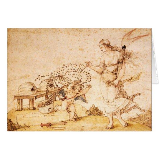 Amor der Honig-Dieb Grußkarte