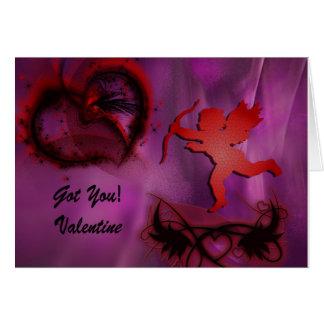 Amor hat es recht am Valentinstag Grußkarte