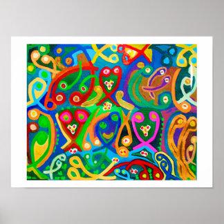 Amor-Kunst: Samenzellen-glücklicher Tanz Poster