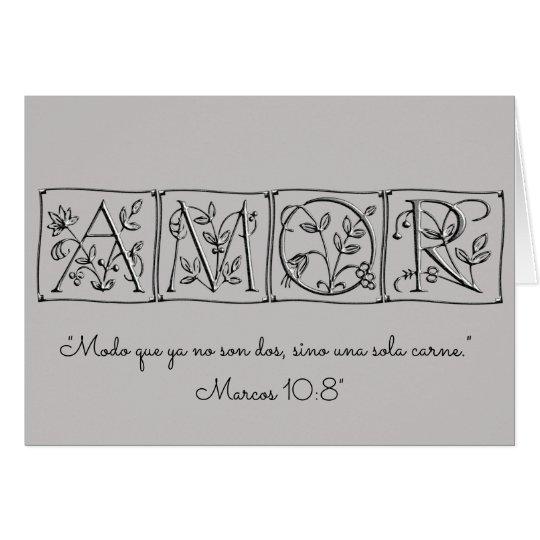 Amor~ nicht mehr zwei aber ein mitteilungskarte