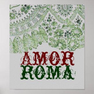 Amor Rom mit grüner Spitze Poster