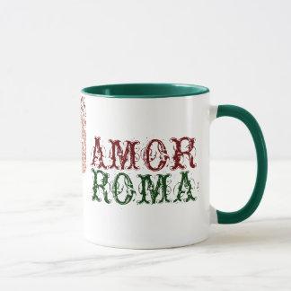 Amor Rom mit grüner Spitze Tasse