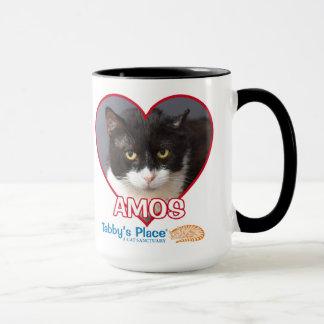 Amos - Schwarzes betonte große Tasse 15oz