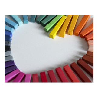 Amour de couleur carte postale