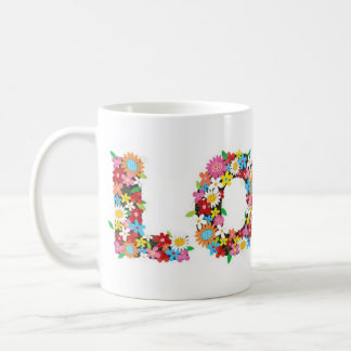 amour de flower power mug blanc
