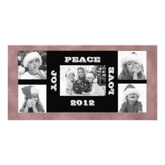 Amour de paix de joie de photos du carte photo 5 carte avec photo