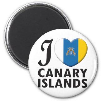 Amour des Îles Canaries Magnet Rond 8 Cm