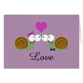 Amour d'escargot carte de correspondance