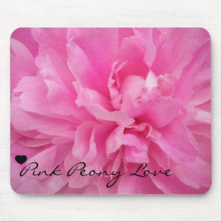 Amour rose de pivoine tapis de souris