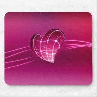amour rose du coeur 3d tapis de souris