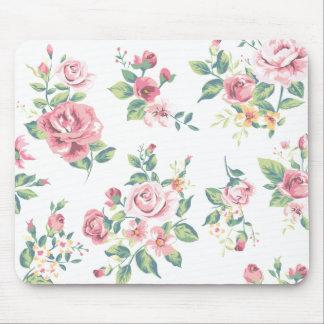 Amour rose floral vintage de fleurs de roses tapis de souris