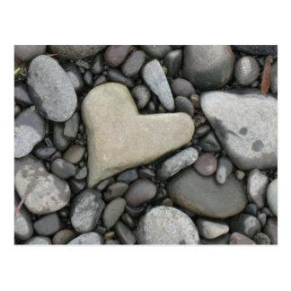 Amour sur les roches cartes postales