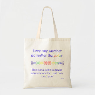 Amour un un autre (sac - bleu) sac en toile budget