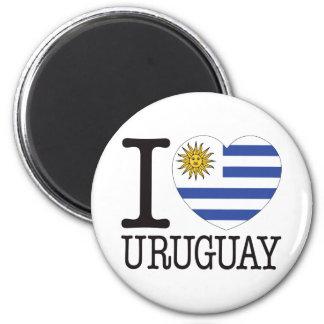 Amour v2 de l'Uruguay Magnet Rond 8 Cm