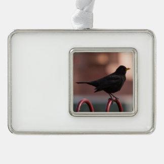 Amsel Rahmen-Ornament Silber