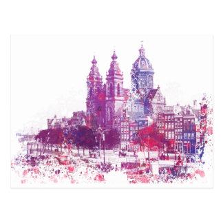 Amsterdam die Kirche von Sankt Nikolaus Postkarte