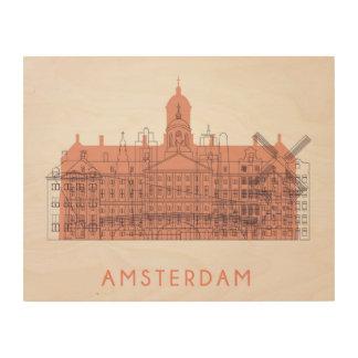 Amsterdam, die Niederlande | Skyline der Holzwanddeko