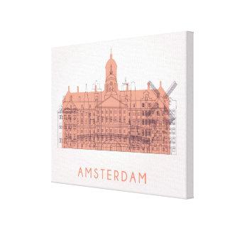 Amsterdam, die Niederlande | Skyline der Leinwanddruck