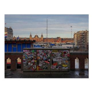 Amsterdam: Etikettiert Postkarte