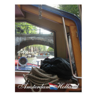 Amsterdam-Kanal-Kreuzfahrt Postkarte