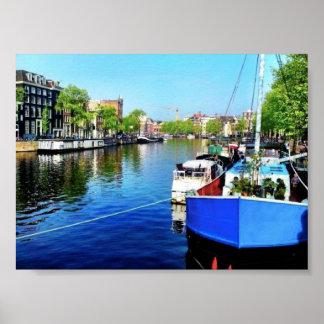 Amsterdam-Kanal Poster