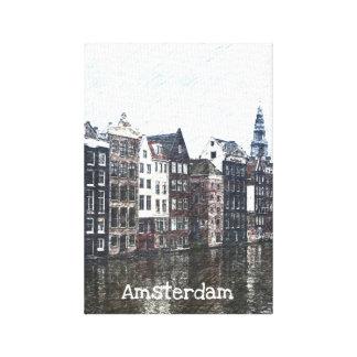 Amsterdam-Leinwand Leinwanddruck
