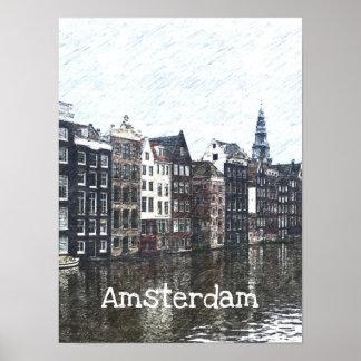 Amsterdam-Plakat Poster