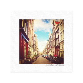 Amsterdam-Straße - Amsterdam, die Niederlande - Leinwanddruck