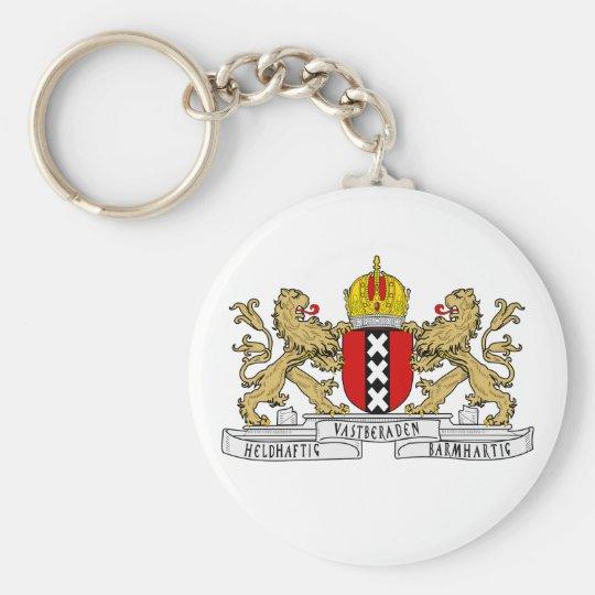 Amsterdam-Wappen Standard Runder Schlüsselanhänger