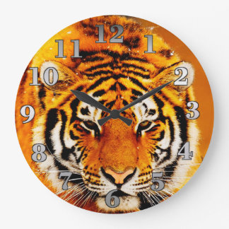 Amur-Tiger-runde Wanduhr
