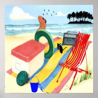 Amusement à l'affiche de plage