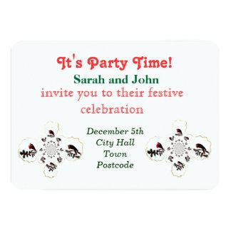 Amusement de fête de Robin de houx Carton D'invitation 12,7 Cm X 17,78 Cm