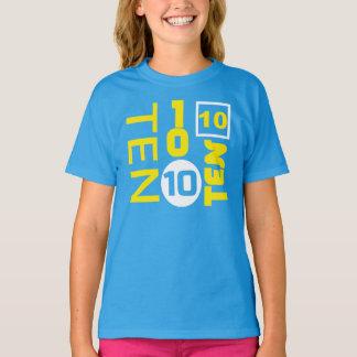 AMUSEMENT Dix pièce en t de 10 ANNIVERSAIRES T-shirt