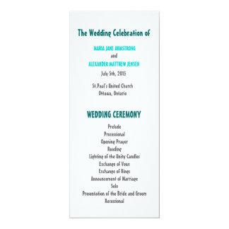 Amusement et programme moderne de mariage carton d'invitation  10,16 cm x 23,49 cm