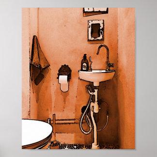 """Amusement pour des plombiers """"Le Toilet vintage """" Poster"""