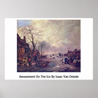 Amusement sur la glace par Isaac Van Ostade Posters