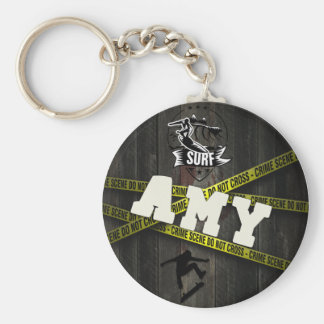 AMY - Skater Style Standard Runder Schlüsselanhänger