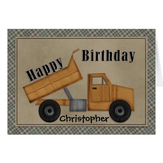 An der Arbeits-Gelb-Kipper-Geburtstags-Karte Karte